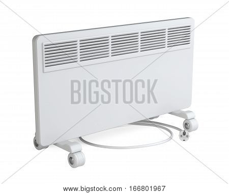Home equipment for heating - electric convector. High quality 3d illustration isolated on a white background.