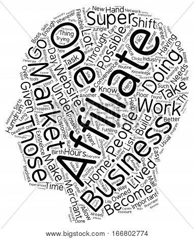 How You Can Become a Super Affiliate 1 text background wordcloud concept