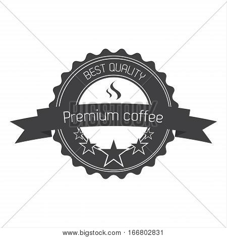 Premium coffee quality label for your cafe and coffee room