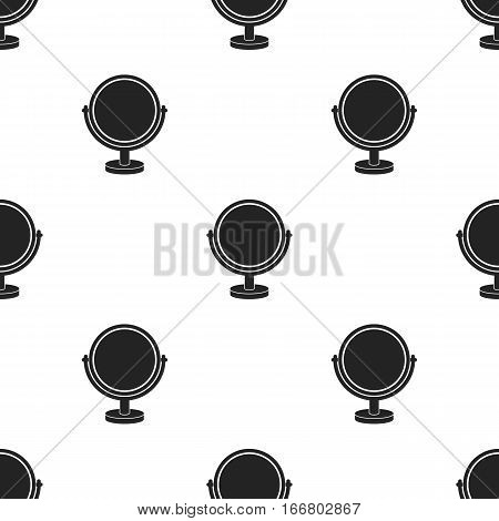 Mirror icon in black style isolated on white background. Make up pattern vector illustration.