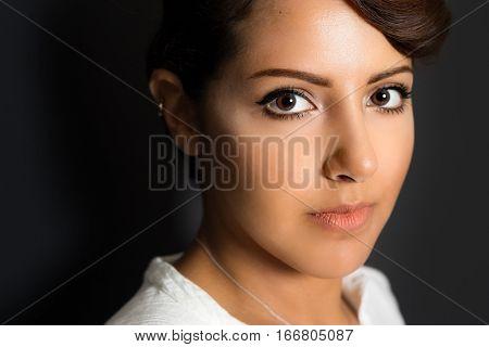 Beautiful saudi arabian woman close up