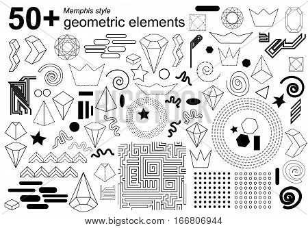 Crystals, crowns, spirals, circles, zig zag and dotted patterns. 1980s-1990s motifs.