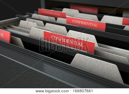 Filing Cabinet Drawer Open Confidential