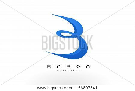 B Logo Red .B Letter Icon Design Vector Illustration.
