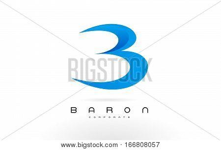 B Logo Blue .B Letter Icon Design Vector Illustration.