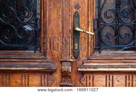 Old Retro Wooden Doors