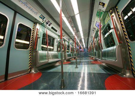 Hongkong ,CN - Dec 17:view of underground interior   Dec 17 ,2008 in Hongkong ,CN
