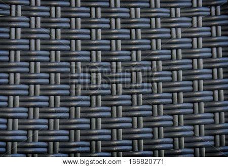 Black Rattan Weave Texture Background