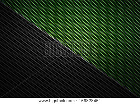 Abstract modern green black carbon fiber textured material design for background graphic design