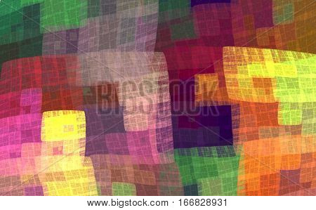 Multicolor colorful checkered pattern for the fabric handkerchief blankets bedspreads bed linen. Fractal bandanna pattern design 5.