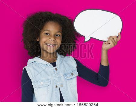 African Kid Studio Portrait Concept