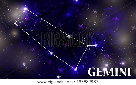 Symbol Gemini Zodiac Sign. Vector Illustration EPS10