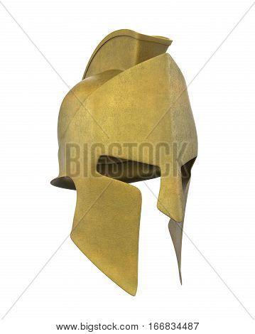 Spartan Helmet isolated on white background. 3D render
