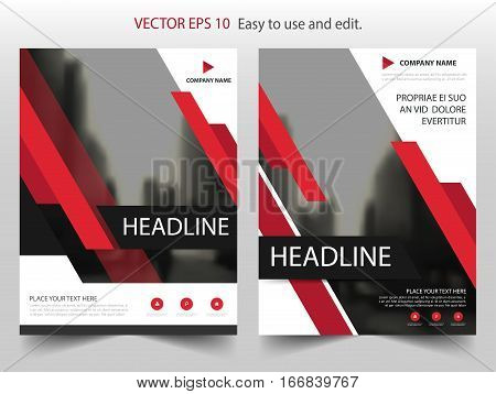 Red annual report Leaflet Brochure Flyer template design book cover layout design abstract business presentation template a4 size design