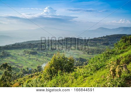 Great Rift Valley landscape taken from Mouse Summit Kenya poster