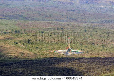 Geothermal power plant in Menengai Crater Nakuru Kenya East Africa