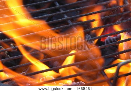 Bbq Charcoal Flames