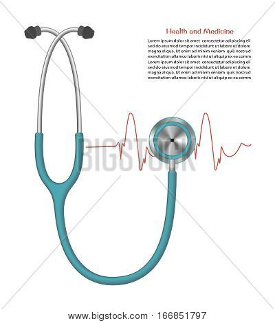stethoscope. medical equipment for heart rate measurement