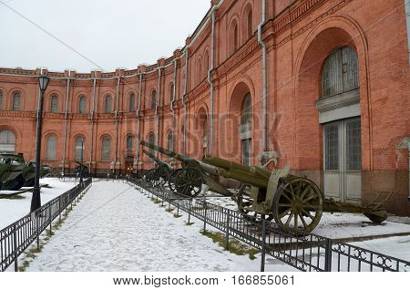 22.01.2017.Russia.Saint-Petersburg.The Museum features equipment and artillery of different times.