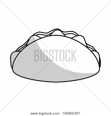 wrap icon over white background. fast food design. vector illustration