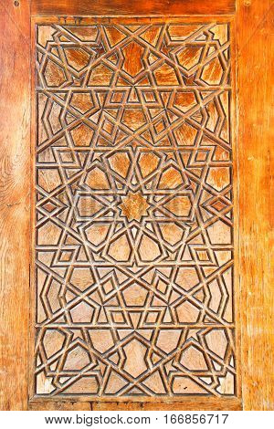 traditional Turkish hand made wooden brawn background