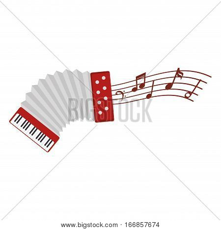 accordion instrument isolated icon vector illustration design