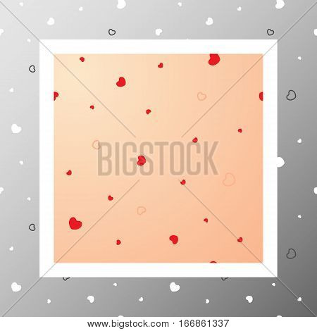 Сute seamless pattern with dynamic hearts and contours. Love romantic and Valentine's Day background. Wrapping paper also. Easy and convenient to edit.