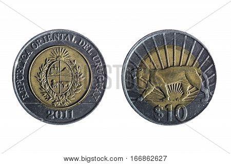 Ten Peso Uruguayan Currency