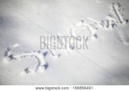 Snow Written In The Snow