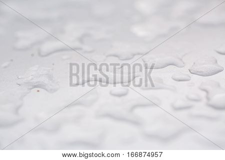 natural frosty pattern on winter window. texture of ice, cracks and sharp edges of the glass frozen water, frosty background
