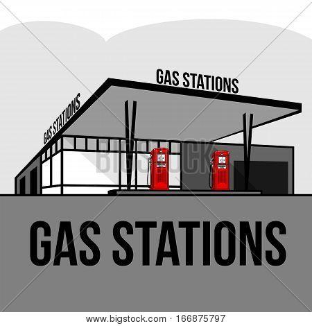Vintage Gas Stations