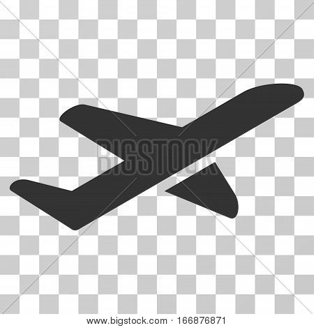Airplane Takeoff vector icon. Style is flat graphic symbol.