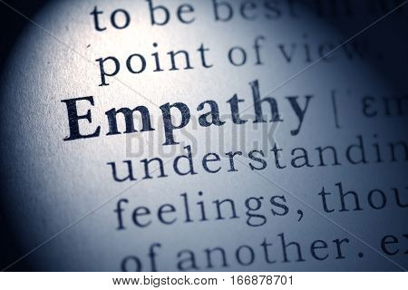 Fake Dictionary Dictionary definition of word empathy.