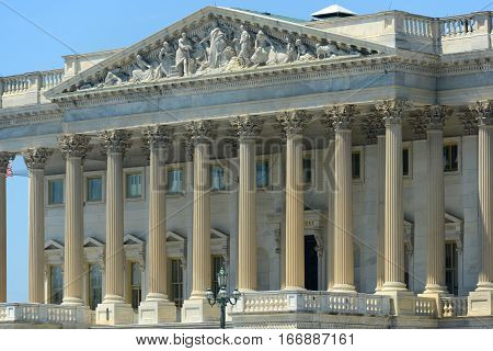 United States House of Representatives Building of Capitol Building in Washington, District of Columbia, USA.
