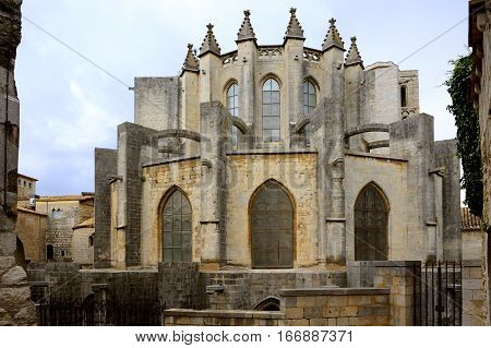 The Cathedral of Saint Mary of Girona, in the city of Girona, Catalonia, Spain.