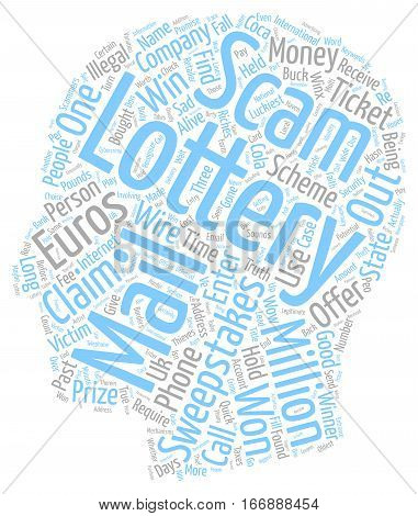 I Won The Lottery Or Maybe Not text background wordcloud concept