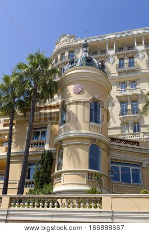 MONTE CARLO, MONACO - AUGUST 17, 2012: Luxury apartments in Monte Carlo, Monaco major financial and touristic landmark in Europe