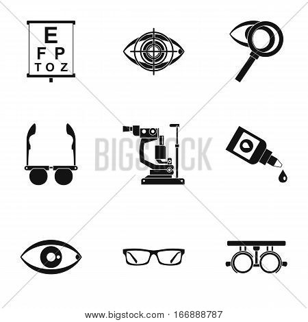 Eyes icons set. Simple illustration of 9 eyes vector icons for web