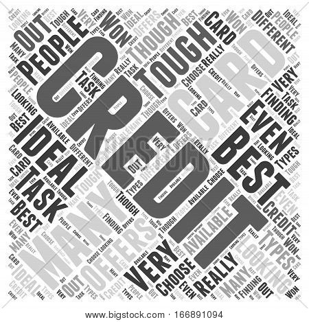 Ideal Offers For Credit Cards Word Cloud Concept