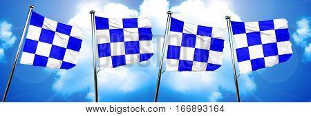 November maritime signal flag, 3D rendering