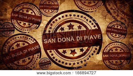 San dona di piave, vintage stamp on paper background