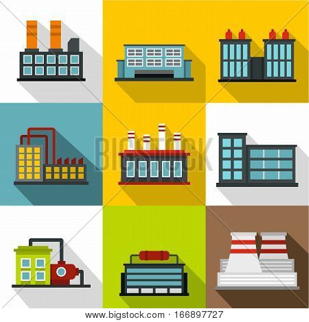 Production icons set. Flat illustration of 9 production vector icons for web