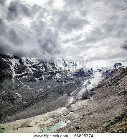 Wide view of the Pasterze Glacier Grossglockner Austria