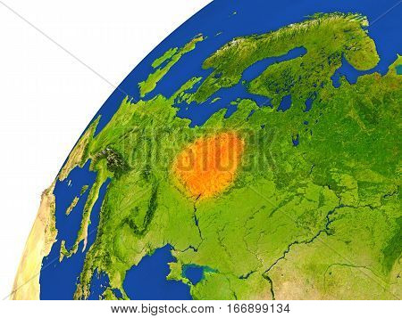 Country Of Belarus Satellite View