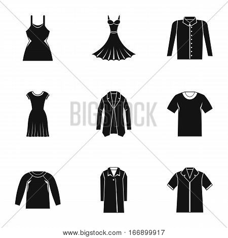 Clothing for body icons set. Simple illustration of 9 clothing for body vector icons for web