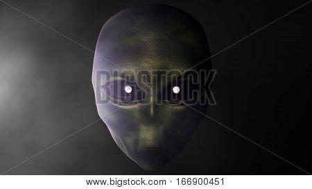 Alien background . 3D computer render. Stock illustration