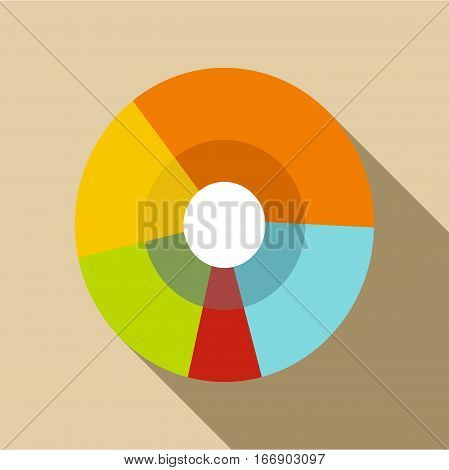Pie chart icon. Flat illustration of pie chart vector icon for web design
