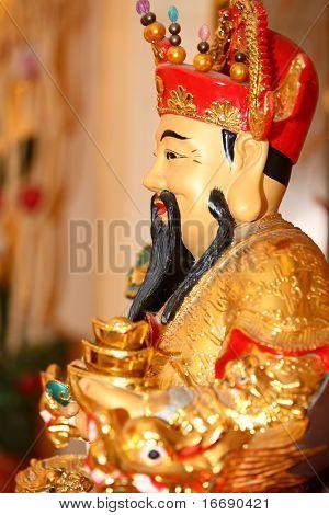 chinese wealth buddha statue