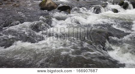 Wilson Creek in North Carolina moving fast over rocks
