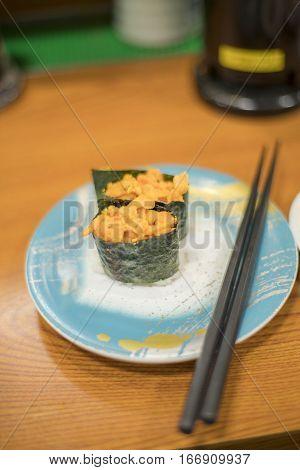 Sea Urchin Roe Japanese Sushi Uni Gunkanmaki